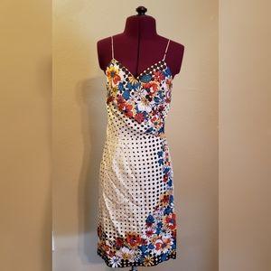 Nicole Miller silk wrap dress size small